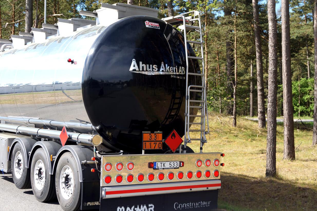 Åhus Åkeri tankbil logo